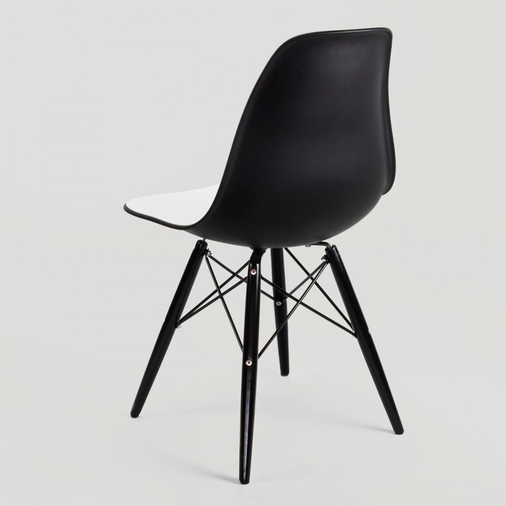 Silla eames dsw bicolor muebles modernos - Muebles eames ...