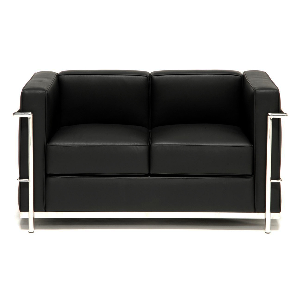 Sill n le corbusier lc2 loveseat muebles modernos for Le corbusier muebles